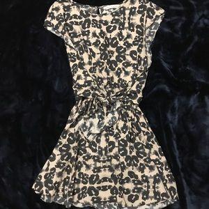 Rebecca Taylor EUC Spots Front Tie Day Dress